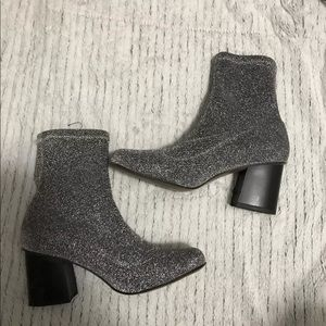 Topshop Martha Sparkly Booties